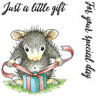 New Release House Mouse A Little Gift Mini Clear Stamp Set