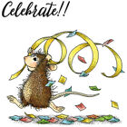 New Release House Mouse Celebrate Mini Clear Stamp Set