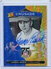 2014 Panini Hall Of Fame Crusade Johnny Bench On Card Auto #2 5 Reds Card No.65