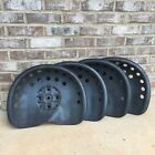 Set of 4 Antique Style Metal Tractor Seat Rustic Ranch Home Decor Farm Stool
