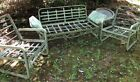 Vintage Mid Century Aluminum Chairs And Sofa Glider