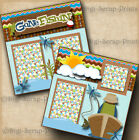 GONE FISHING 2 premade SCRAPBOOK pages paper piecing layout boy girl DIGISCRAP