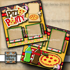 PIZZA PARTY 2 premade SCRAPBOOKING pages paper piecing LAYOUT BY DIGISCRAP