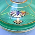 Antique Covered Divided Dish Gold Trim Hand Painted; Excellent Condition