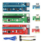 Lot BTC Riser Card USB 30 PCI E Express 1x To 16x Extender Adapter Power Cable