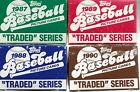 1987-1988-1988-1990 Topps Traded Baseball Complete 132 Card Sets In Original Box