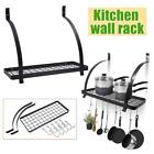 Kitchen Wall Rack Storage Rack Cookware Holder Hanging Bowl Pan Rack Seasoning