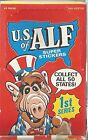 1987 Alien Productions U.S. Of Alf Super Stickers Trading Card Box Of 48 Packs