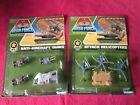 Kenner Mega Force die cast Anti Aircraft Tanks Attack Helicopters on card