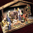Antique European Nativity Scene Beautifully hand painted