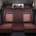 5 Seats Cooling Meshpu Leather Seat Covers Universal Car Frontrear Pillows Usa