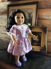 Genuine Anerican Girl Doll Dark Brn Hair Green Eyes