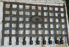 Antique Wrought Iron Window Grate Gate Coat Hat Wall Rack 33 x 23