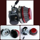Air Filter Kit Red Carburetor 2Stroke Bicycle 49cc 50cc 80cc Perfect Replacement