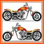 30 Custom Motorcycle Art Personalized Address Labels