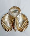 Lunt Silver Smith A-11 SilverPlated Vintage Handle Seashell Serving Tray