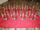 Culver Glass vertical gold srtipe glasses 8 qty mint rock style