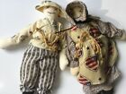 Vintage 80s Mr. Mrs. Mini Cloth Dolls Primitive Style Hand Crafted Folk Art