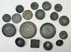 Lot of 18 Old Antique Hard Rubber GOODYEAR 1851 Patterned Buttons 1/2