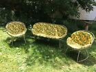 VINTAGE Patio Set MID CENTURY CLAM SHELL Homecrest Eames Era SOFA CHAIR