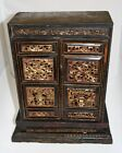 Chinese Gilt Wood Carved Polychrome Temple Box