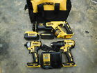 DEWALT 20V MAX XR LI-ION BRUSHLESS CORDLESS 3 PIECE TOOL COMBO KIT USA MADE