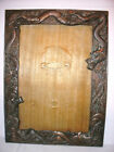 Antique 19th Chinese metal picture frame with embossed dragons decoration 8x10