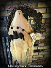 Halloween!!  Primitive Ghost and Bats in 14