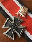 Ww2 German Iron Cross With Oak Leaf Clusters Ribbon 1939 1957 Veterans Version