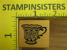 Rubber Stamp PSX Fancy China Teacup Tea Cup C1059 Stampinsisters 1527