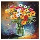 Ribbon Embroidery Kit Oil Painting Bouquet Diy Wall Decor Stamp Silk Embroidery