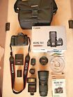 Canon EOS 70D DSLR W + 2 Lenses  bag  more BundleEXCELLENT
