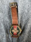 Unisex Gucci Timeless Bee Watch Gold Brown Leather