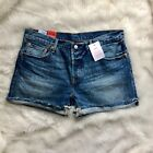 Levis 501 CT Women Denim Shorts Size 31 Selvedge Jeans Tapered Leg Button Fly