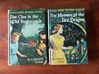NANCY DREW Lot of 2 1960s First Edition Yellow Spine 20 Chapter Hardback