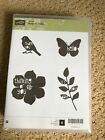 Stampin Up New Wood Mount Stamp Set Natures Hello