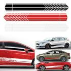 2pcs Sports Waterproof Racing Stripe Graphic Stickers Car Body Side Decals