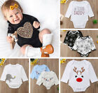 Newborn Infant Baby Girls Boys Long Sleeves Casual Jumpsuit Romper Home Bodysuit