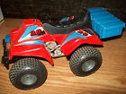 QUAD CYCLE ATV 4 WHEELER VINTAGE BATTERY OPERATED W ATTACHED CONTROLLER #28
