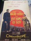 HUMPHREY BOGART ONE OF A KIND 1953 DRIVE IN WINDOW CARD FOR THE LEFT HAND OF GOD