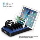 gofanco EdgeS 10 Port USB Charging Station with iWatch Stand Black or White
