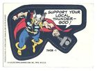 Vintage Topps 1975 Marvel Comic Book Heroes Thor-1 Sticker Card