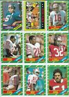 1986 Topps Football Complete 396 Card Set In Sheets & Album Rice & Young Rookies