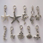50pcs Under the Sea Ocean Water Life Jewelry Dangling Penndant Clip