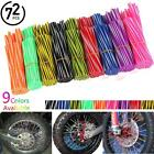 72x Motorcycle Bike Spoke Skins Coat Covers Wraps Wheel Rim Guard Protector Pipe