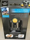 THE SHARPER IMAGE 10 X 25 DIGITAL CAMERA BINOCULARS