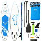 KS SP1009 12 Adult Inflatable SUP Stand Up Paddle Board White  Blue