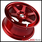 18 KLUTCH SLC2 WHEELS RED GALAXY CONCAVE RIMS FITS 06 16 VOLKSWAGEN GTI