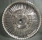 VINTAGE PRESSED GLASS DIVIDED SERVING PLATE-