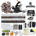 Beginner Tattoo Kit Set 40 color Inks Power Supply 2 Machine Guns Needles Tips w
